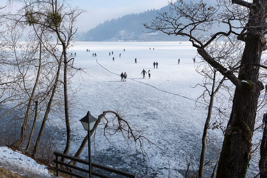bled lake frozen