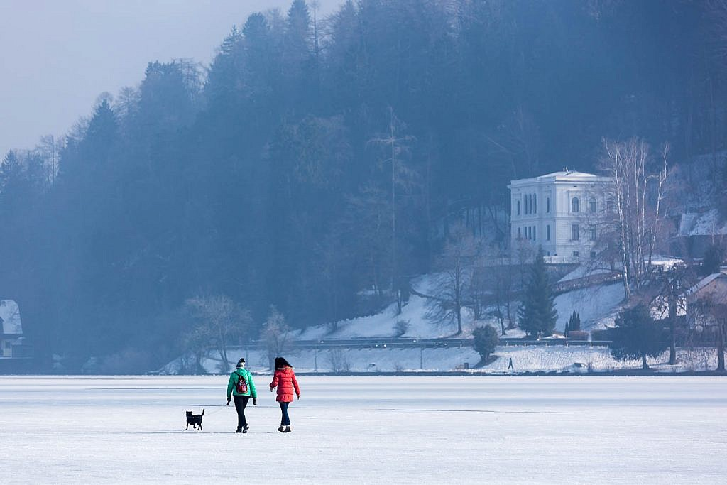 bled lake winter